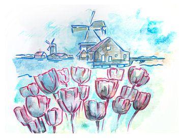 les Pays-Bas au printemps typique sur Ariadna de Raadt