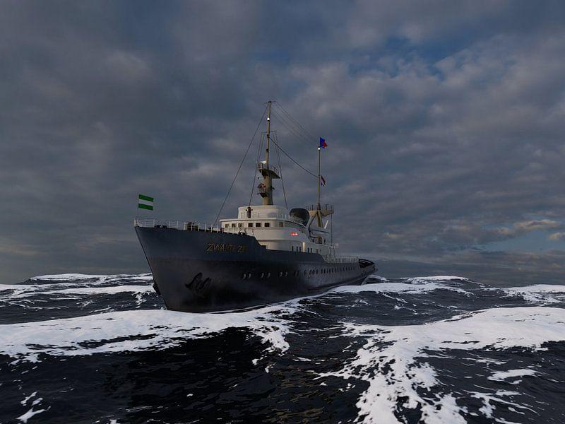 Zeesleper de Zwarte Zee van Rene van Dam