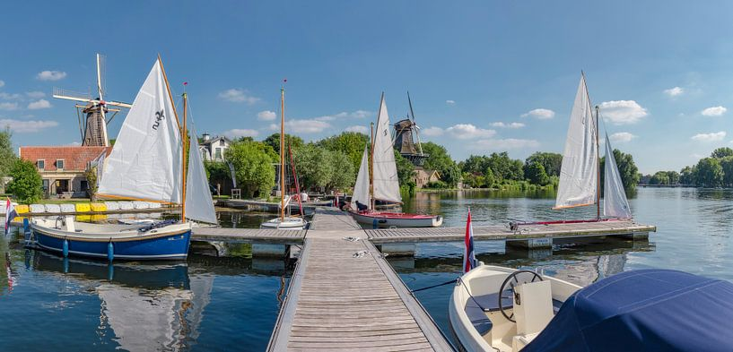 Molens De Lelie en De Ster aan de Kralingse Plas, Rotterdam, , Zuid-Holland van Rene van der Meer