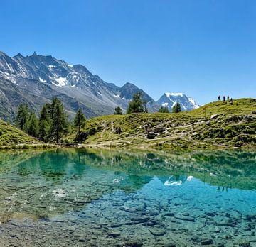 Lac Bleu, La Gouille, Val d'Herens, Wallis, Valais, Zwitserland van
