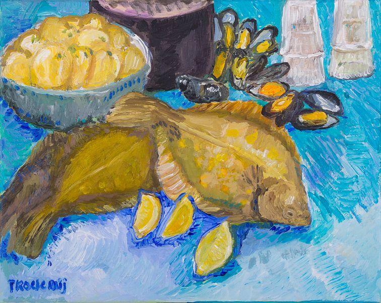 Schol 2 (blauw) van Tanja Koelemij