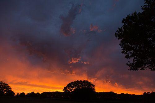 Burning sky van Anneke Hooijer