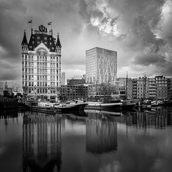 Oude Haven & Witte Huis Rotterdam(zwart-wit, vierkant)