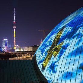 Berlijnse televisietoren in een bijzonder licht van Frank Herrmann