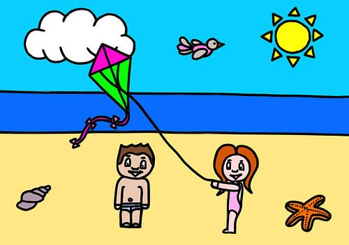 Suz op het strand van AG Van den bor