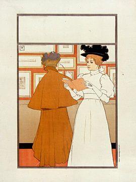 Salon des Cent, Armand Rassenfosse - februari 1896 van Atelier Liesjes