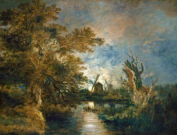 Maanlicht op de Yare, John Crome