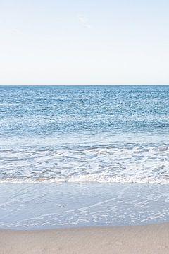 Drieluik van de Noordzee en het Scheveningse strand. 1 van 3. van MICHEL WETTSTEIN