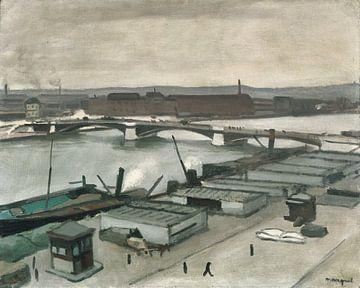 Die Quais von Rouen, Albert Marquet, 1912