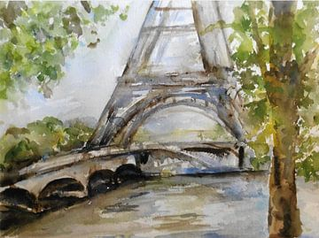 Der Eiffelturm am Seine. von Ineke de Rijk