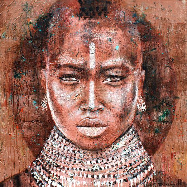 Tribal woman van Atelier Paint-Ing