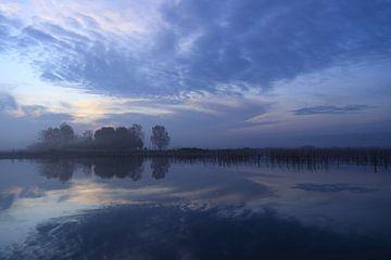 Blauer Sonnenaufgang im Park Lingezegen Arnheim von Bobsphotography