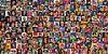 Collage de 200 portraits, dans le monde entier. sur Frans Lemmens Aperçu