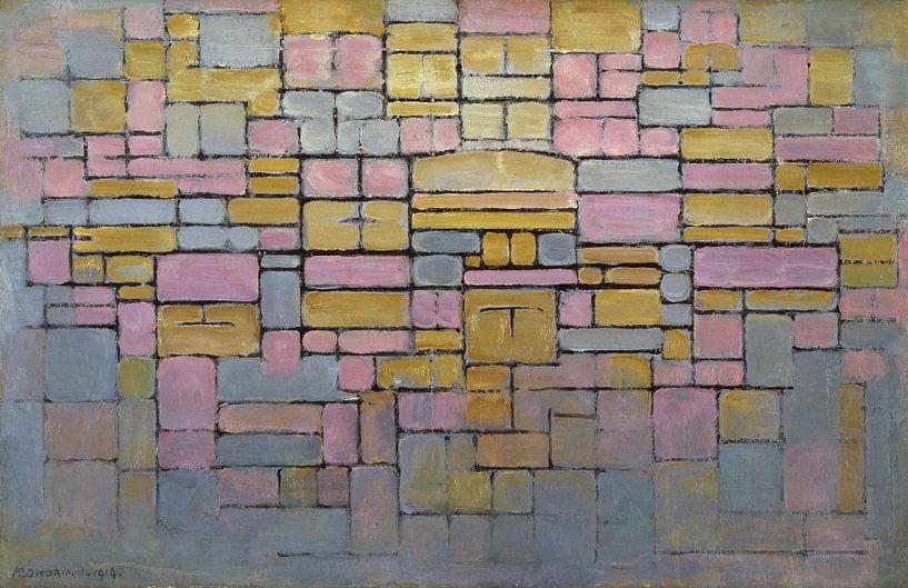 Piet Mondriaan.  Composition no V van 1000 Schilderijen
