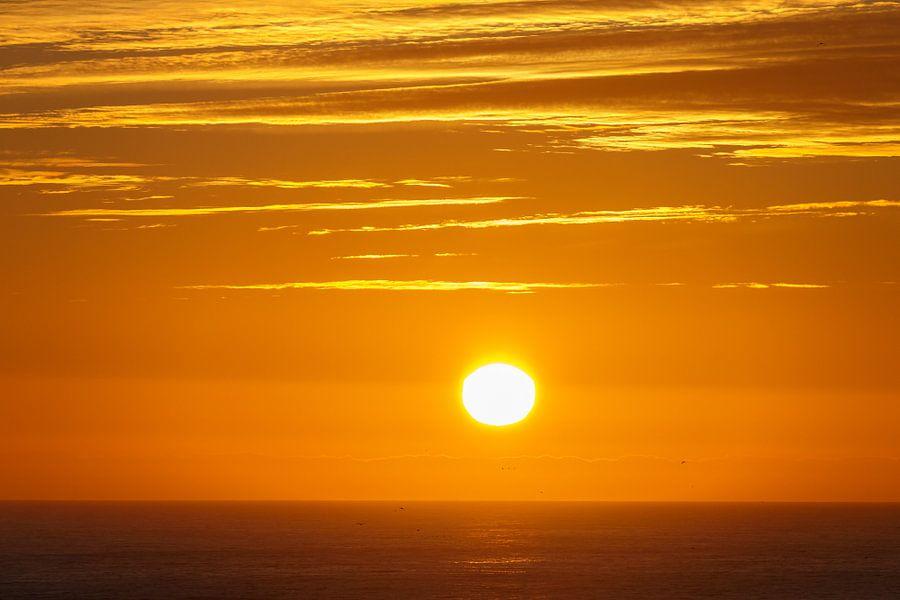 Midzomernacht zonsondergang