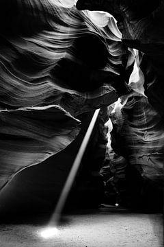 Antilopenschlucht in Schwarz-Weiß von Gerrit de Heus
