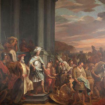 König Cyrus übergibt den gestohlenen Schatz aus dem Tempel von Jerusalem, Ferdinand Bol, 1655 - 1669