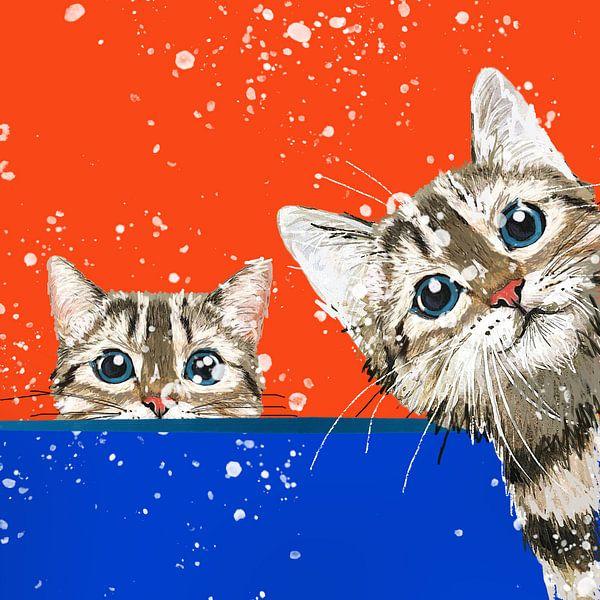 Bemalung von Katzen von Nicole Habets