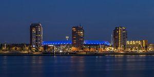 Feyenoord Rotterdam stadium 'De Kuip' at Night - part three b