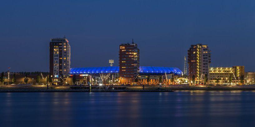 Feyenoord Rotterdam stadium 'De Kuip' at Night - part three b van Tux Photography