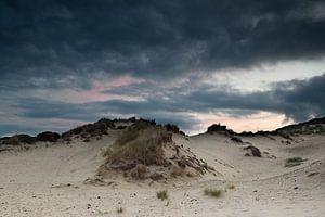 bewolking boven de Haagse duinen.