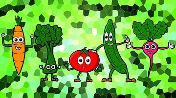 Gelukkige groenten van Pixelbull Design