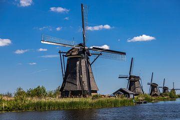 Vijf molens op rij in Kinderdijk van Carin IJpelaar