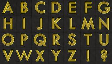 Alfabet nr.3 goud van Leopold Brix