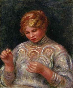 August Renoir, plapperndes Mädchen - 1906 von Atelier Liesjes