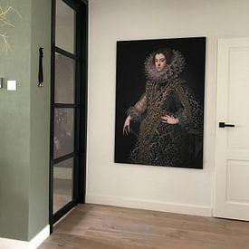 Klantfoto: Koningin Elizabeth van Bourbon, als print op doek