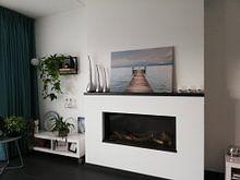 Klantfoto: Stijger in Gardameer van Guido Akster, op canvas
