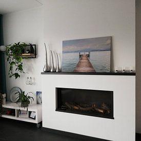Kundenfoto: Stijger in Gardameer von Guido Akster, auf leinwand