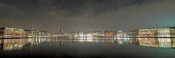 Alster Abend Panorama von Borg Enders