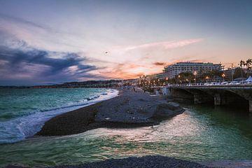 Zonsondergang in Nice van