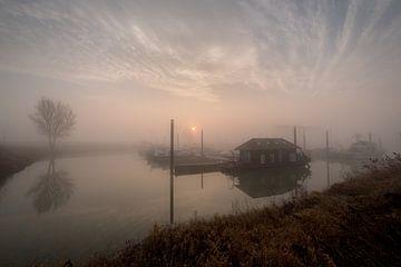 Mistige zonsopkomst bij haven von Moetwil en van Dijk - Fotografie