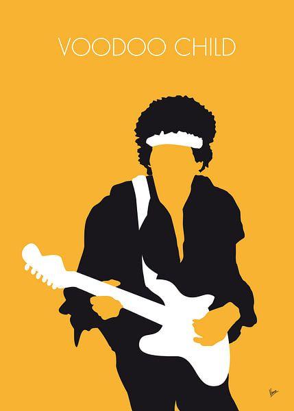 No014 MY Jimi Hendrix Minimal Music poster van Chungkong Art