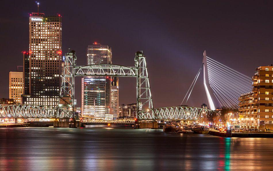Skyline Rotterdam van Jeroen Kleiberg
