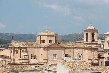 Barockkirche San Domenico,, Noto, UNESO Weltkulturerbe, Vale di Noto, Provinz Syrakus, Sizilien, Ita
