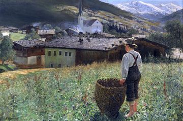 Brixlegg in het Zillertal, Tirol, ALEXANDER KOESTER, rond 1889-1890 van Atelier Liesjes