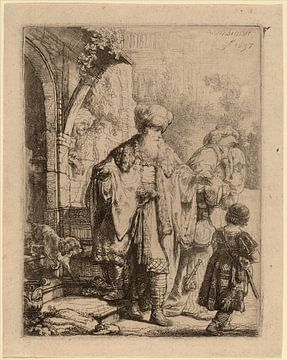 Rembrandt van Rijn  Abraham, Hagar und Ismael