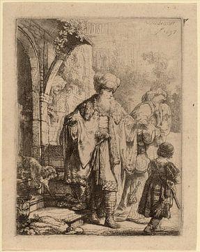 Rembrandt van Rijn  Abraham renvoyant Agar et Ismael