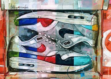 Nike air max 1 Gemälde von Jos Hoppenbrouwers