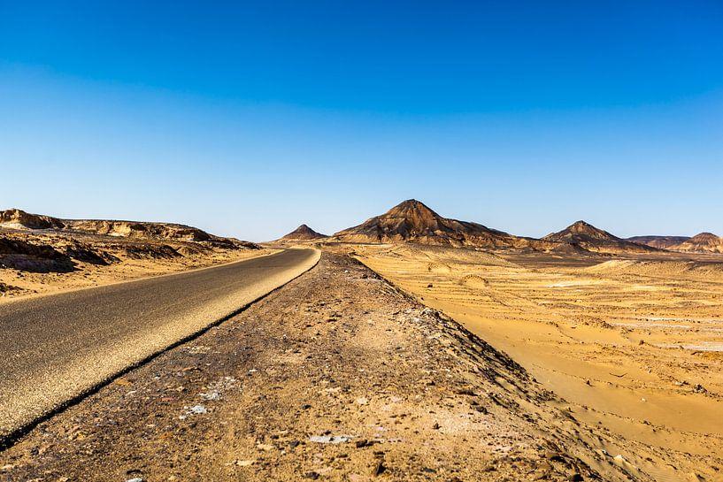 Zwarte Woestijn Egypte van Joep Oomen