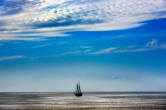 Tall Ship op t wad van Harrie Muis