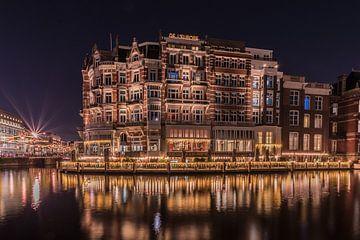L'Europe Amsterdam de nuit sur Alfred Benjamins