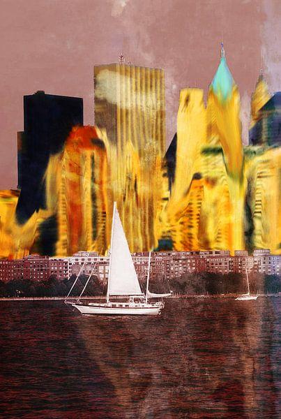 Skyline van New York van Karl-Heinz Lüpke