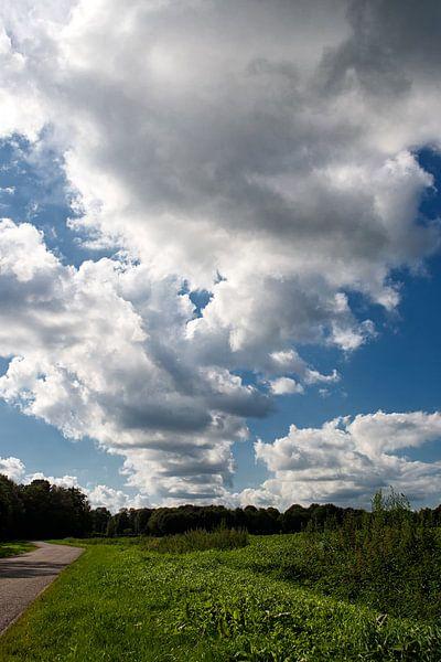 Wolkendeken over landschap van Fokje Otter