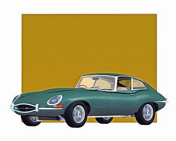 Klassieke auto – Oldtimer Jaguar E Type 1960