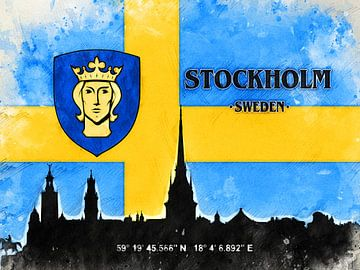 Stockholm von Printed Artings