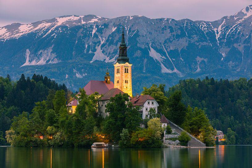 Lake Bled, Slovenië van Henk Meijer Photography